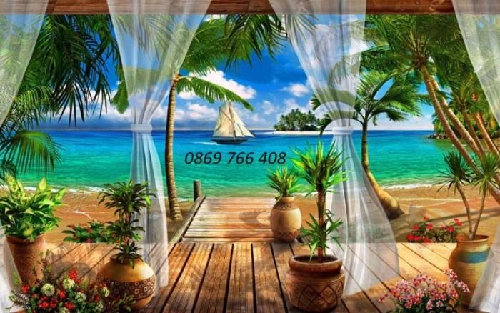 Tranh gạch 3D phong cảnh bãi biển1