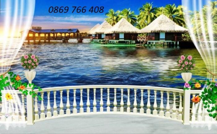 Tranh gạch 3D phong cảnh bãi biển2