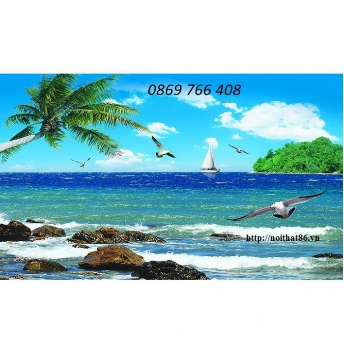 Tranh gạch 3D phong cảnh bãi biển5