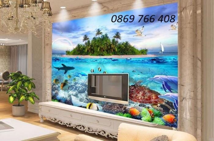 Tranh gạch 3D phong cảnh bãi biển4