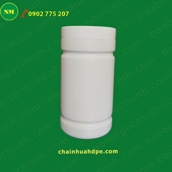Hủ nhựa 500gr, hủ 2 ngấn, hủ nhựa 1kg đựng bột, hủ nhựa 1kg đựng men vi sinh.2
