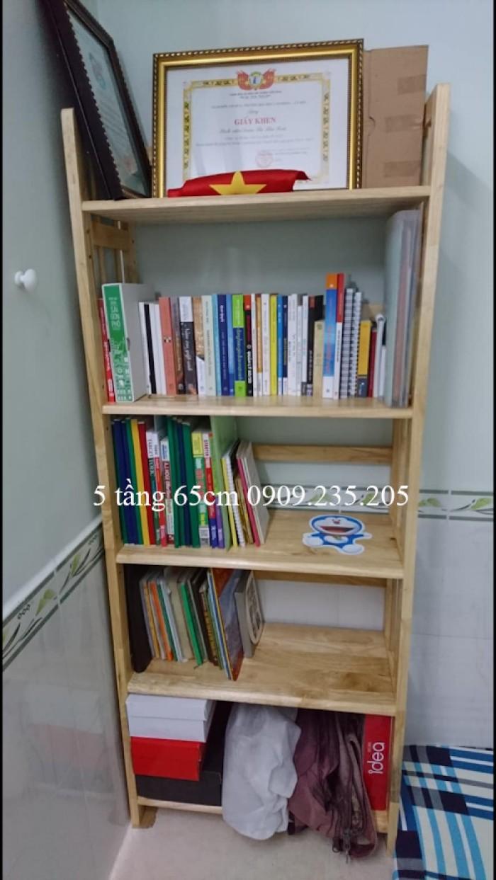 Kệ sách gỗ 5 tầng ngang 65cm1