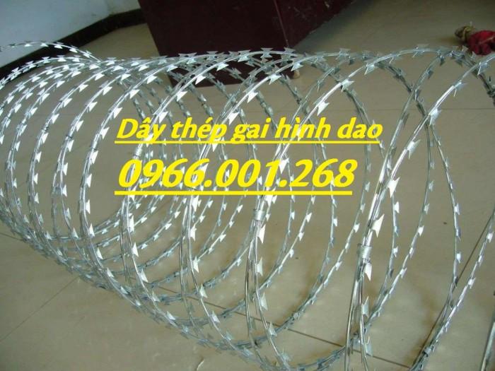 Nhà cung cấp dây thép gai hình dao chống trộm cao 40cm,50cm,60cm,80cm0