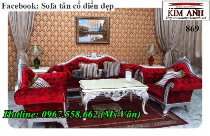 Bàn ghế sofa tân cổ điển giá rẻ2