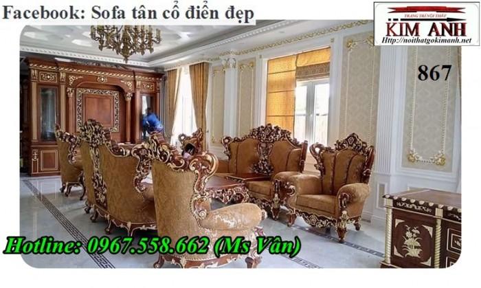 Bộ bàn ghế gỗ tân cổ điển sang trọng3