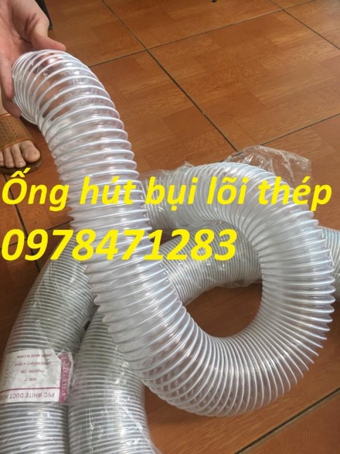 Tổng kho ống hút bụi lõi thép, ống gió bụi trắng giá siêu rẻ12