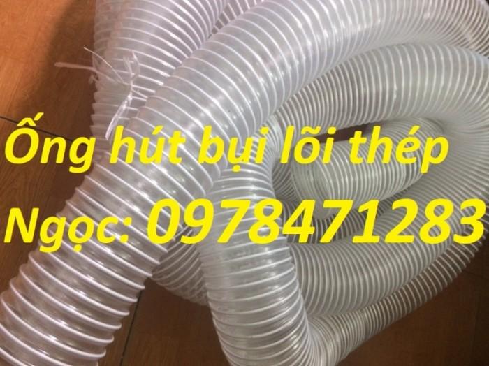 Tổng kho ống hút bụi lõi thép, ống gió bụi trắng giá siêu rẻ2