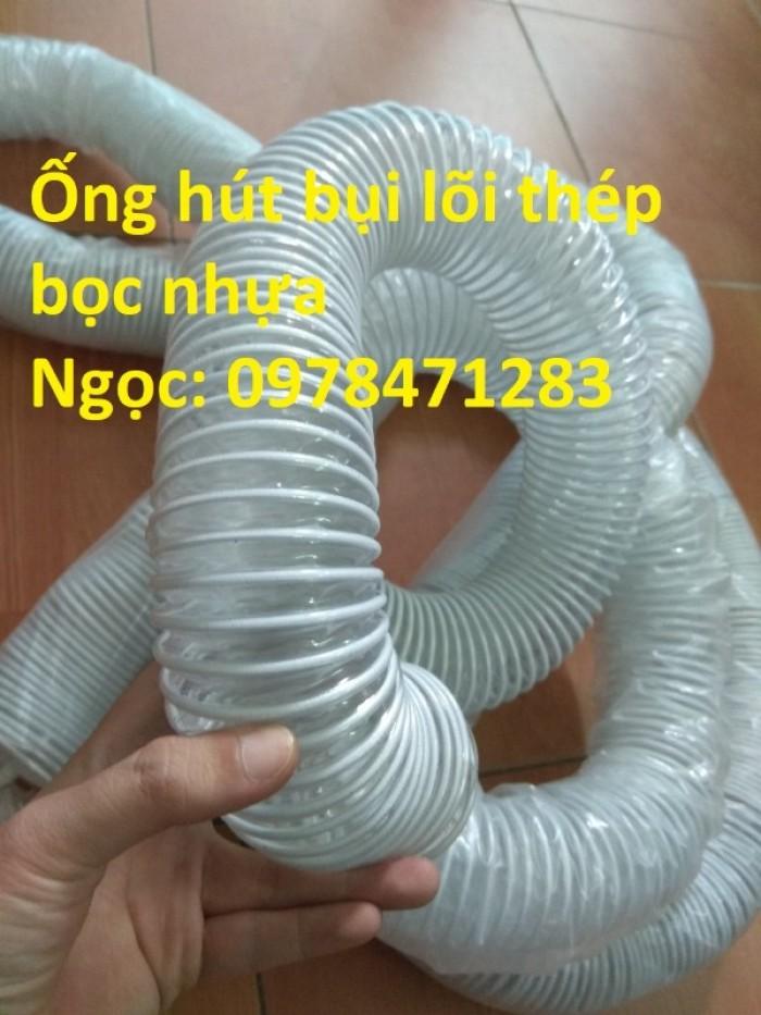 Tổng kho ống hút bụi lõi thép, ống gió bụi trắng giá siêu rẻ9