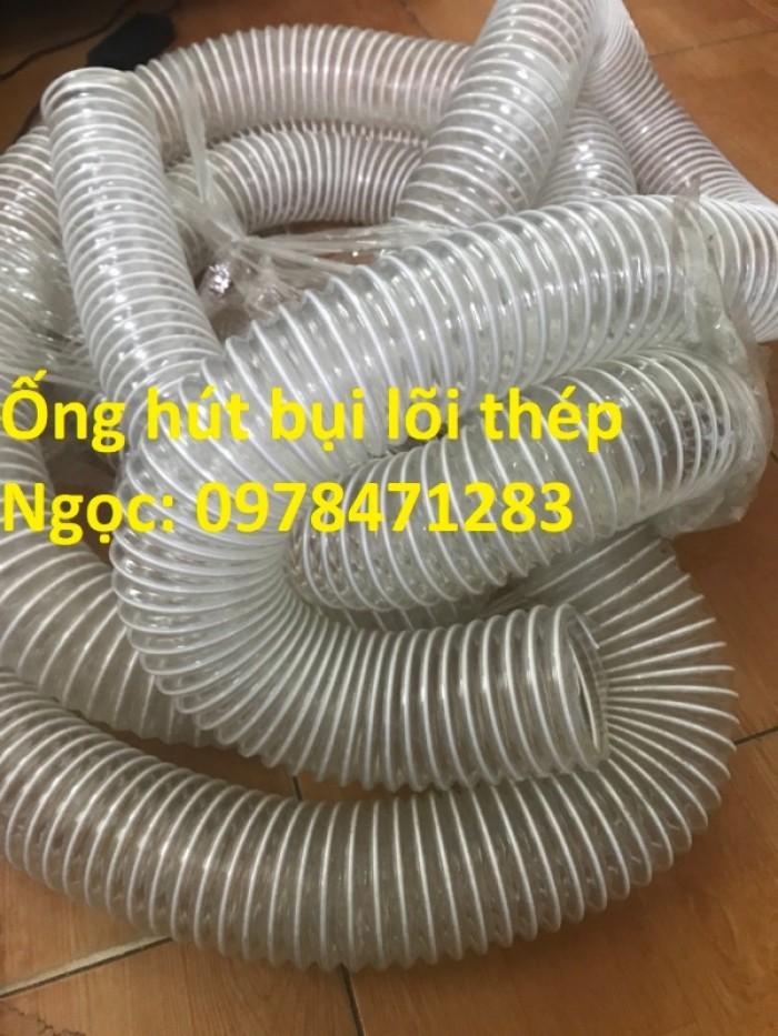 Tổng kho ống hút bụi lõi thép, ống gió bụi trắng giá siêu rẻ10
