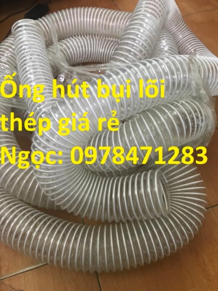 Tổng kho ống hút bụi lõi thép, ống gió bụi trắng giá siêu rẻ11