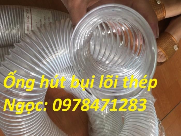 Tổng kho ống hút bụi lõi thép, ống gió bụi trắng giá siêu rẻ1