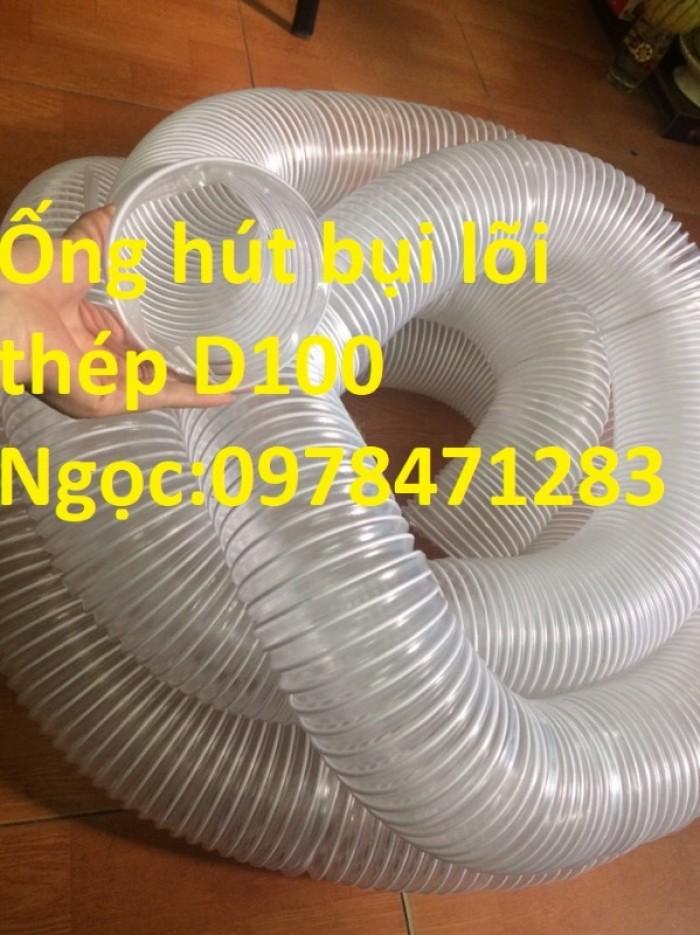 Tổng kho ống hút bụi lõi thép, ống gió bụi trắng giá siêu rẻ5
