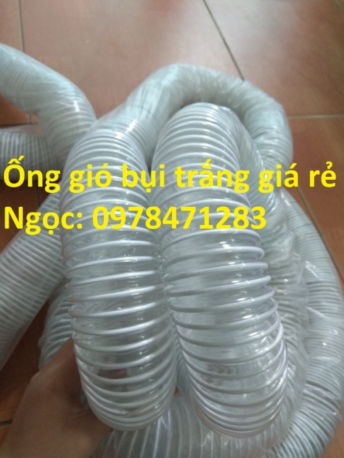 Tổng kho ống hút bụi lõi thép, ống gió bụi trắng giá siêu rẻ6