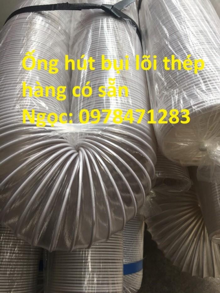 Tổng kho ống hút bụi lõi thép, ống gió bụi trắng giá siêu rẻ7