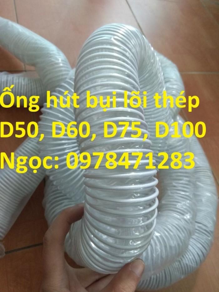 Tổng kho ống hút bụi lõi thép, ống gió bụi trắng giá siêu rẻ3