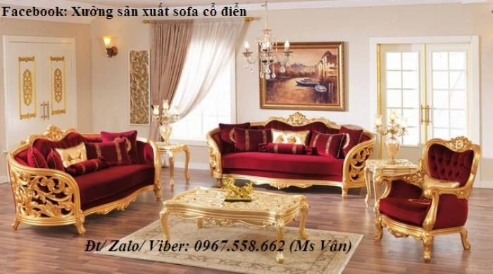 Sofa gỗ tân cổ điển8