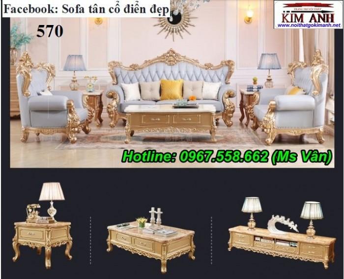 Bàn ghế gỗ phòng khách tân cổ điển9