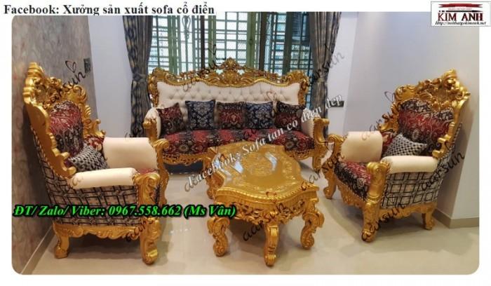 bàn ghế sofa cổ điển phong cách ý 10