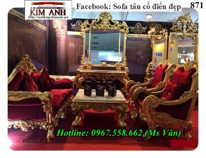 bộ sofa cổ điển hoàng gia cho biệt thự12
