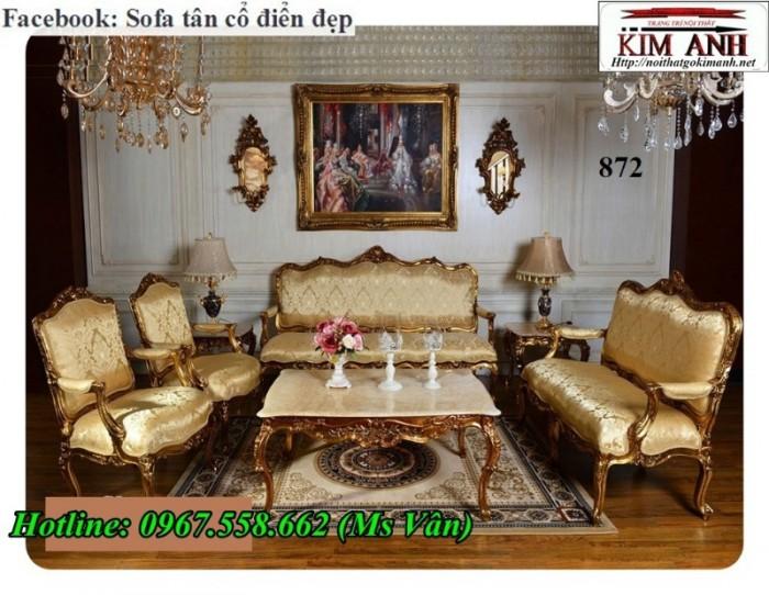 sofa tân cổ điển dát vàng 13