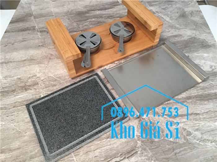 Tấm đá nướng thịt Hàn Quốc giữ nóng bằng cồn, Miếng đá nướng thịt QQB tại bàn6