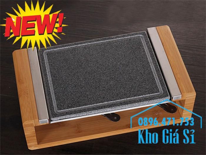 Tấm đá nướng thịt Hàn Quốc giữ nóng bằng cồn, Miếng đá nướng thịt QQB tại bàn2