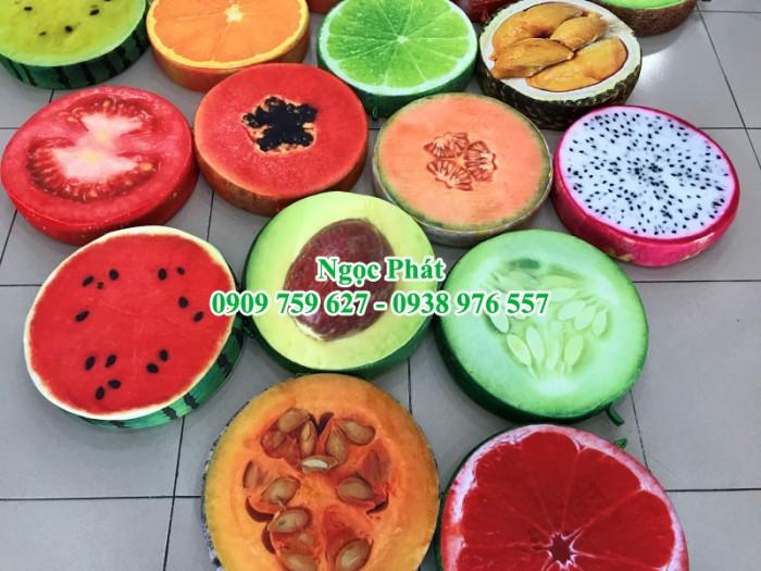 Nệm ngồi trái cây. Đệm ngồi hình hoa quả, nệm lót ngồi hoạt hình.18