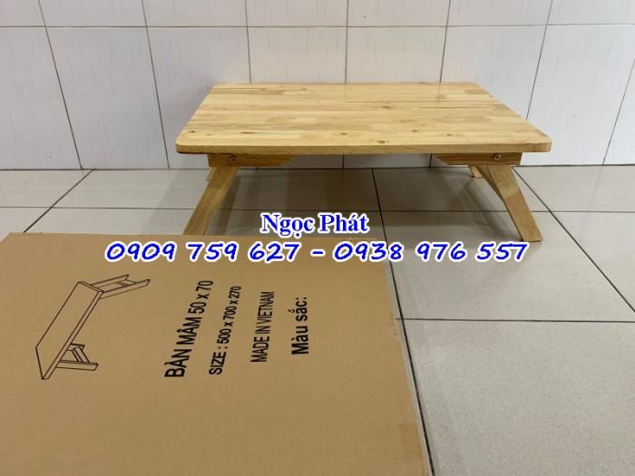 Bàn ngồi bệt 70x50cm chân thang -  Bàn gỗ xếp - Ngọc Phát6