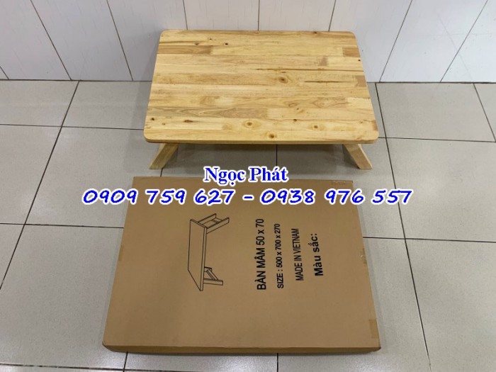 Bàn ngồi bệt 70x50cm chân thang -  Bàn gỗ xếp - Ngọc Phát9
