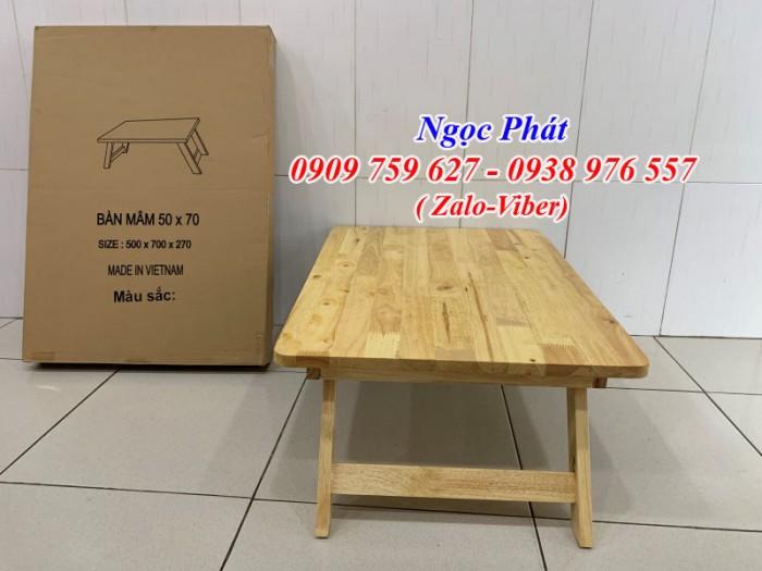 Bàn ngồi bệt 70x50cm chân thang -  Bàn gỗ xếp - Ngọc Phát12