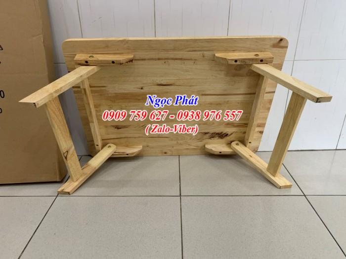 Bàn ngồi bệt 70x50cm chân thang -  Bàn gỗ xếp - Ngọc Phát10