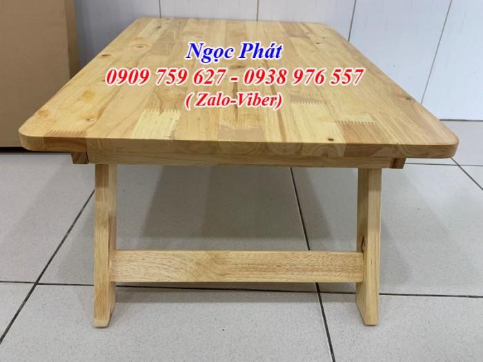 Bàn ngồi bệt 70x50cm chân thang -  Bàn gỗ xếp - Ngọc Phát17