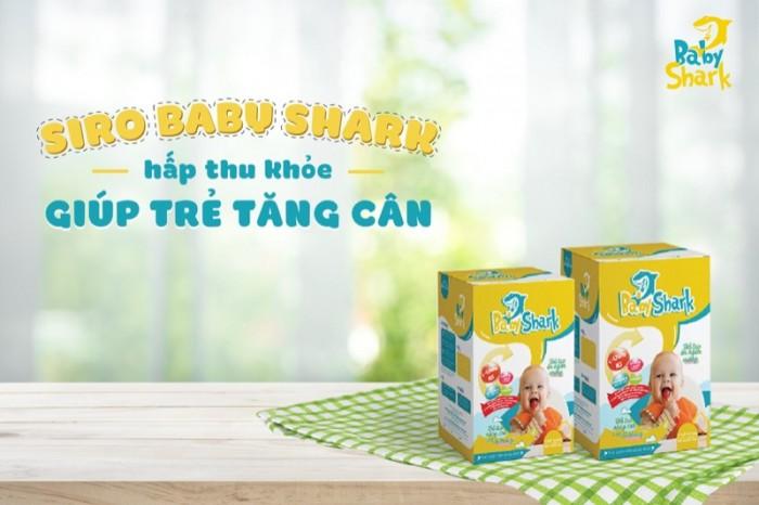 Siro baby shark giúp trẻ tăng cân tự nhiên - trị táo bón0