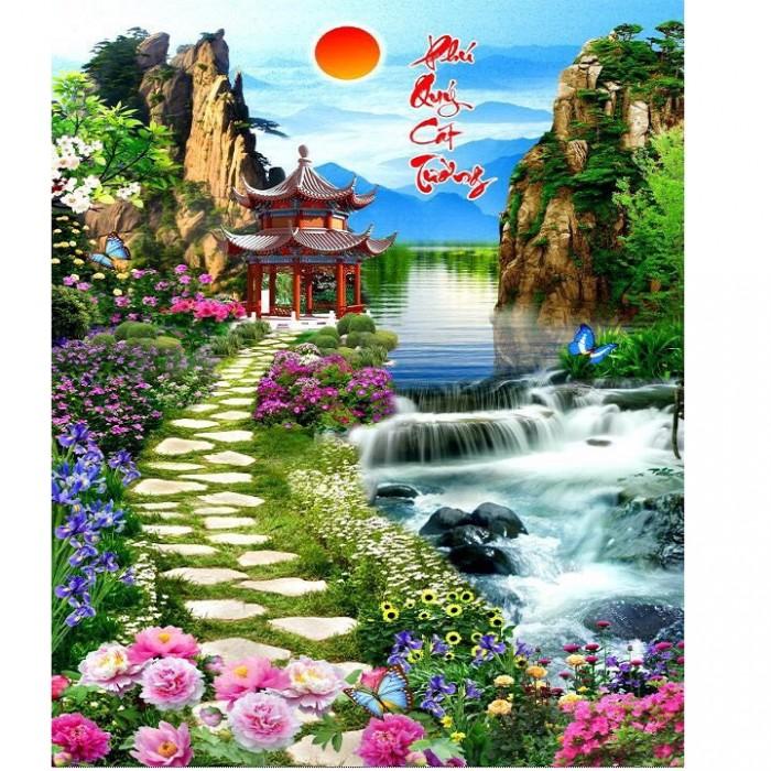 Tranh gạch phong cảnh trang trí7