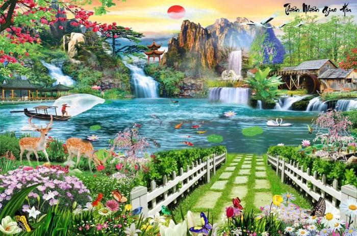 Tranh gạch phong cảnh trang trí13
