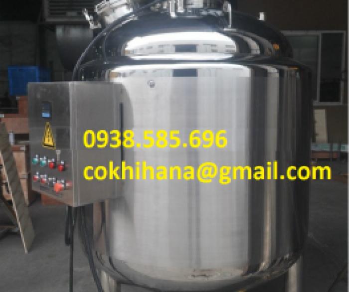 Tank inox  khuấy trộn dược phẩm 1500L2