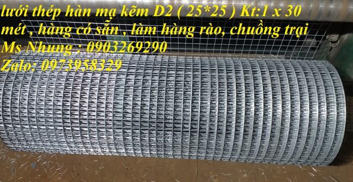 Bán lưới thép mạ kẽm điện phân Phi 4 ( 50*50) giàn lan , hàng rraof3
