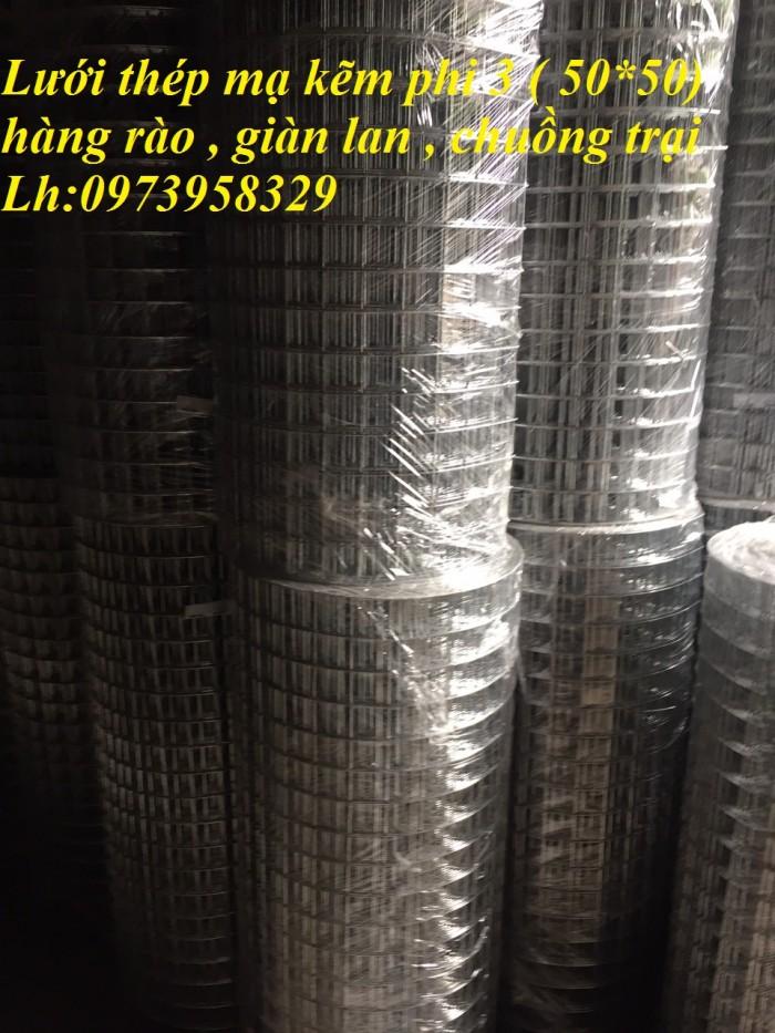 Bán lưới thép mạ kẽm điện phân Phi 4 ( 50*50) giàn lan , hàng rraof7