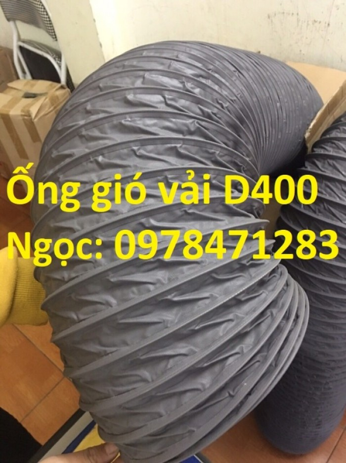 Ống gió mềm vải, ống gió vải, ống vải Tarpaulin D300 thông gió, hút khí.4