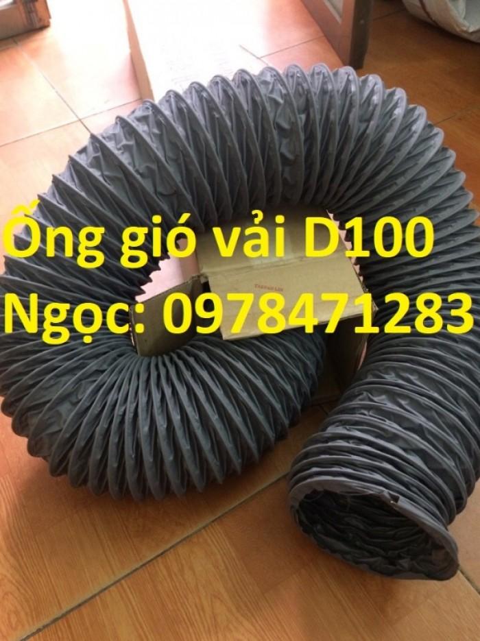 Ống gió mềm vải, ống gió vải, ống vải Tarpaulin D300 thông gió, hút khí.6
