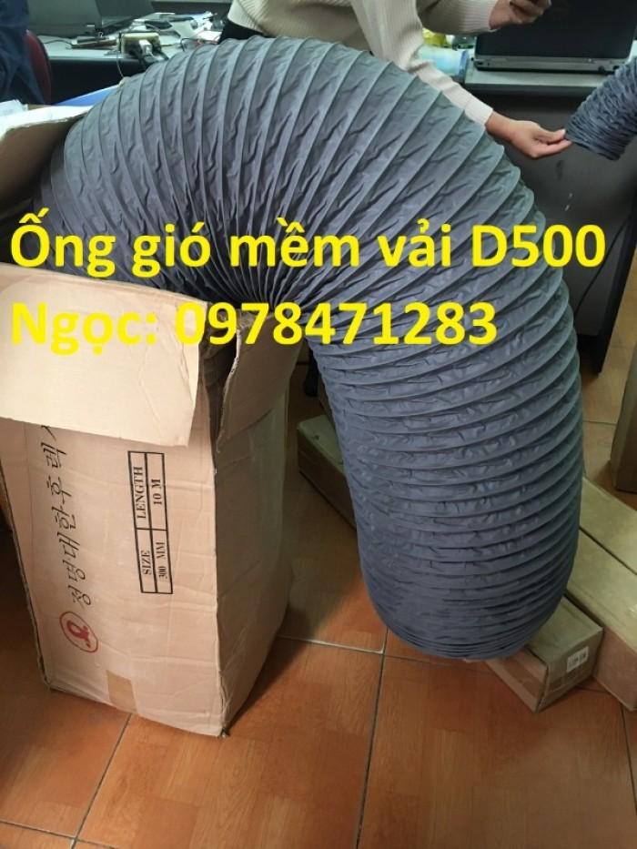 Ống gió mềm vải, ống gió vải, ống vải Tarpaulin D300 thông gió, hút khí.8