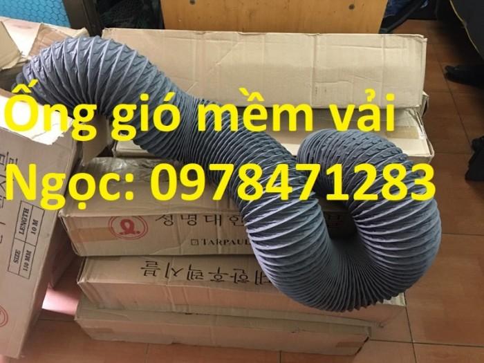 Ống gió mềm vải, ống gió vải, ống vải Tarpaulin D300 thông gió, hút khí.0