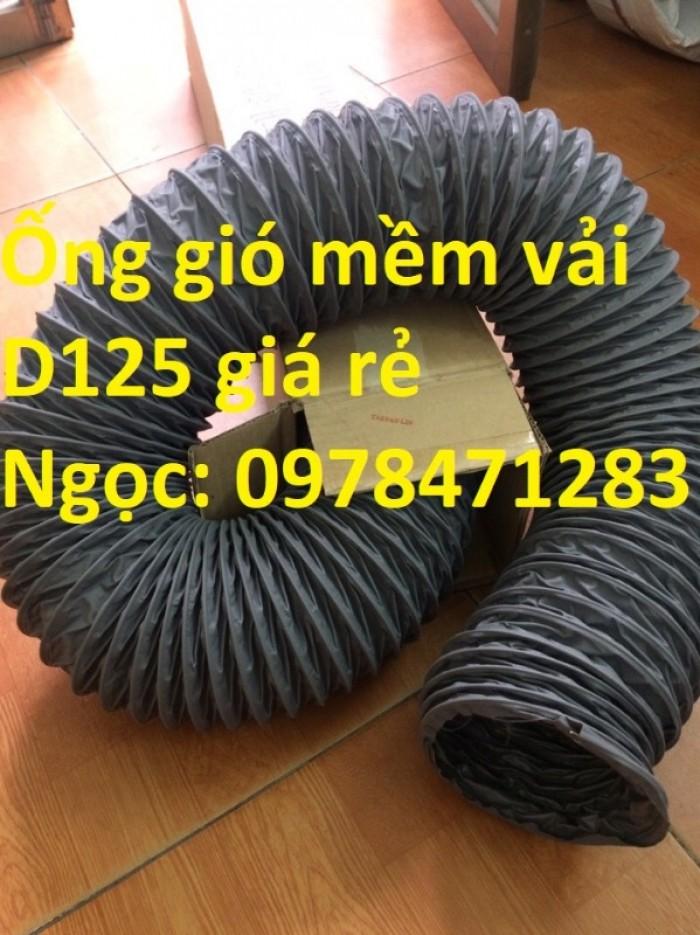 Ống gió mềm vải, ống gió vải, ống vải Tarpaulin D300 thông gió, hút khí.11