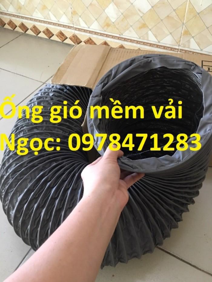 Ống gió mềm vải, ống gió vải, ống vải Tarpaulin D300 thông gió, hút khí.12
