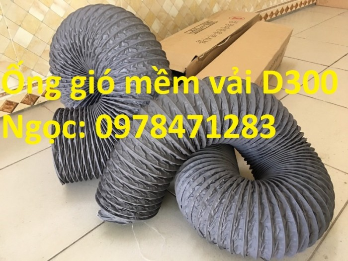 Ống gió mềm vải, ống gió vải, ống vải Tarpaulin D300 thông gió, hút khí.2