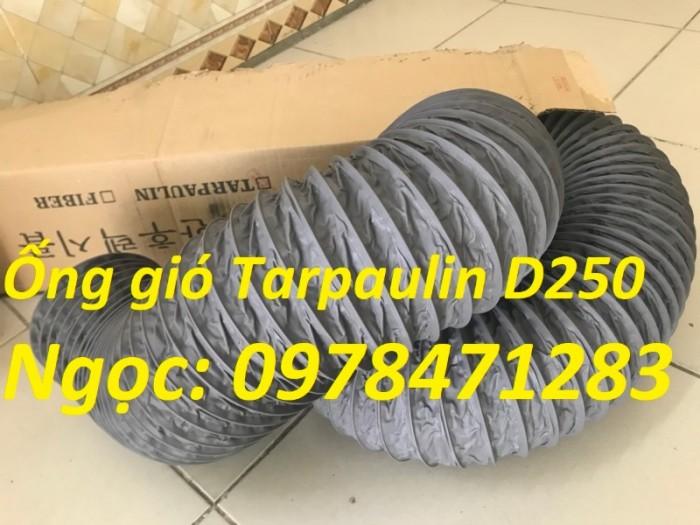 Ống gió mềm vải, ống gió vải, ống vải Tarpaulin D300 thông gió, hút khí.15