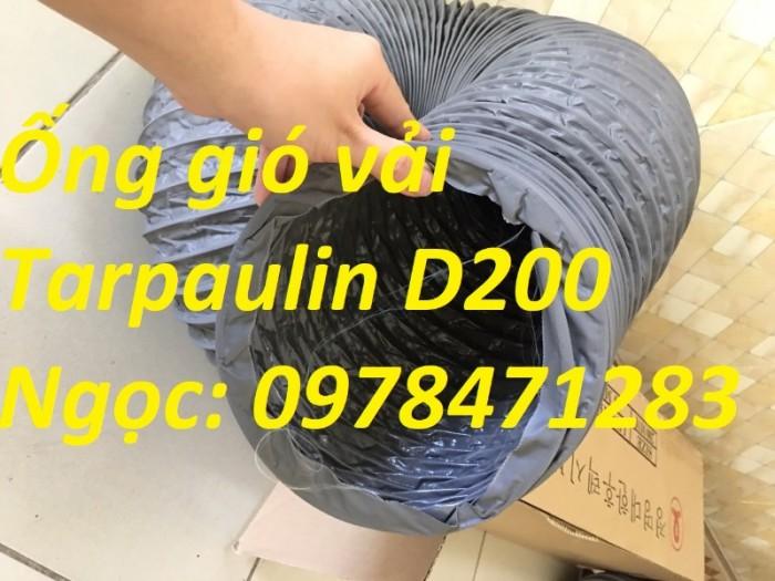 Ống gió mềm vải, ống gió vải, ống vải Tarpaulin D300 thông gió, hút khí.14