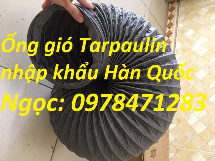 Ống gió mềm vải, ống gió vải, ống vải Tarpaulin D300 thông gió, hút khí.13