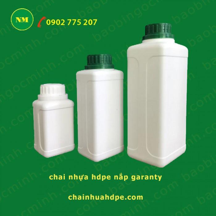Chai nhựa hdpe vuông đựng thuốc bảo vệ thực vật. 2