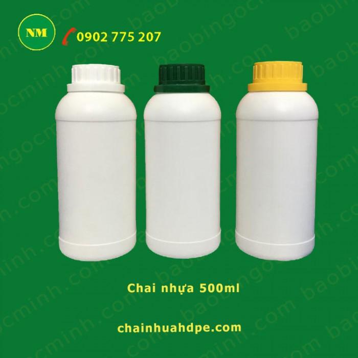 chai nhựa tròn đựng thuốc thủy sản. 3